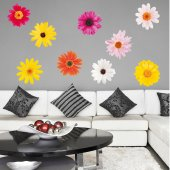 Kit Vinilo decorativo infantil 9 flores