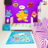 Kit Vinilo decorativo infantil 9 monstruos