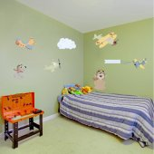 Kit Vinilo decorativo infantil aviones