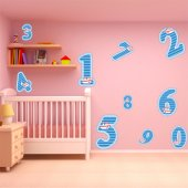 Kit Vinilo decorativo infantil cifras