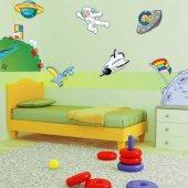 Kit Vinilo decorativo infantil espacio planetas