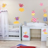 Kit Vinilo decorativo infantil patchwork