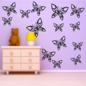 Komplet 16 naklejek - Motyle