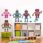 Komplet 5 naklejek Dla Dzieci - Roboty