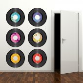 Komplet 6 naklejek - Płyty gramofonowe