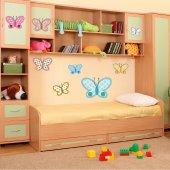Komplet 8 naklejek Dla Dzieci - Motyle