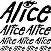 Komplet naklejek - Alice