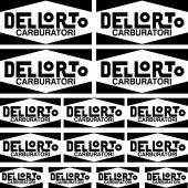 Komplet naklejek - Dellorto