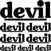 Komplet naklejek - Devil