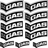Komplet  naklejek - Gas