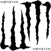Komplet  naklejek - Monster Energy