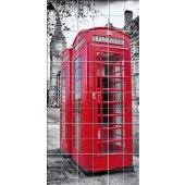 London Phone Box - Tiles Wall Stickers