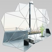 Miroir Acrylique Plexiglass Blocs Géométriques