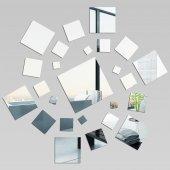 Miroir Acrylique Plexiglass Carré spirale