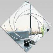 Miroir Acrylique Plexiglass Carré Spirales 2