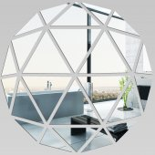 Miroir Acrylique Plexiglass Mosaïque en Triangles