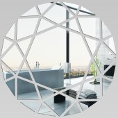 Miroir Acrylique Plexiglass Rond Mosaïque