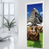 Mountain Door Stickers