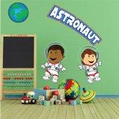 Naklejka ścienna Dla Dzieci - Astronauci