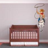 Naklejka ścienna Dla Dzieci - Kowboj i Lasso