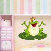 Naklejka ścienna Dla Dzieci - Król Żaba