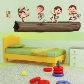 Naklejka ścienna Dla Dzieci - Małpy