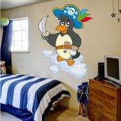 Naklejka ścienna Dla Dzieci - Pingwin Pirat