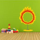 Naklejka ścienna Dla Dzieci - Płonąca Obręcz