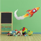 Naklejka ścienna Dla Dzieci - Rakieta Kosmiczna