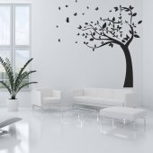 Naklejka ścienna - Drzewo Motyle