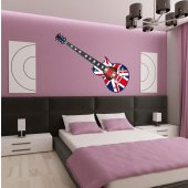 Naklejka ścienna - Gitara UK