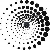 Naklejka ścienna Zegar - Iluzja