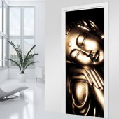 Naklejka na Drzwi - Budda