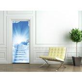 Naklejka na Drzwi - Chmury