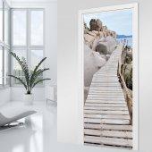 Naklejka na Drzwi - Drewniany Pomost