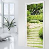 Naklejka na Drzwi - Dróżka w ogrodzie