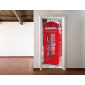Naklejka na Drzwi - Kabina Telefoniczna London
