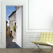 Naklejka na Drzwi - Miasteczko