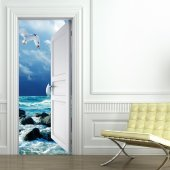 Naklejka na Drzwi - Morze