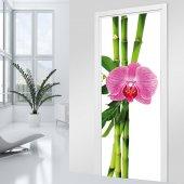 Naklejka na Drzwi - Orchidea