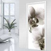 Naklejka na Drzwi - Orchidea Black&White