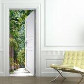 Naklejka na Drzwi - Palmy