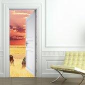Naklejka na Drzwi - Sawanna