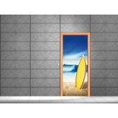 Naklejka na Drzwi - Surfing