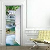 Naklejka na Drzwi - Wodospad