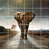 Naklejka na Płytki Ceramiczne - Słoń