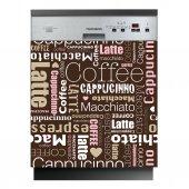 Naklejka na Zmywarkę - Coffee Słowa