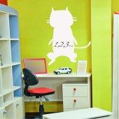 Naklejka Tablica Biała Velleda - Kot