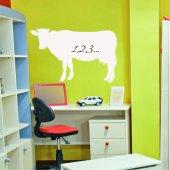 Naklejka Tablica Biała Velleda - Krowa