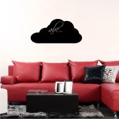Naklejka tablica - Chmura